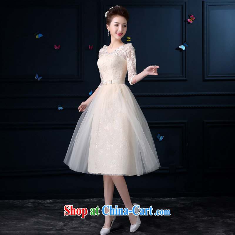 A good service is 2015 new bridesmaid clothing summer wedding dresses small, long, accompanied by her husband's sister dress dress dress girl V collar, cuff XL 2