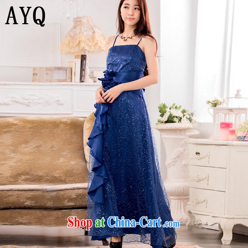 AIDS has been Qi fashion super star, Evening Dress show long serving a large dress code 9929 T A - 1 blue XXXL