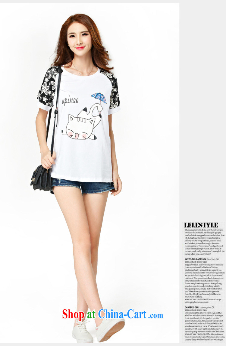 Leong Che-hung Tai SPRING SHOULD BE 2015 summer the Code women mm thick and fat XL T shirt short-sleeved video thin thick sister white 4XL pictures, price, brand platters! Elections are good character, the national distribution, so why buy now enjoy more preferential! Health