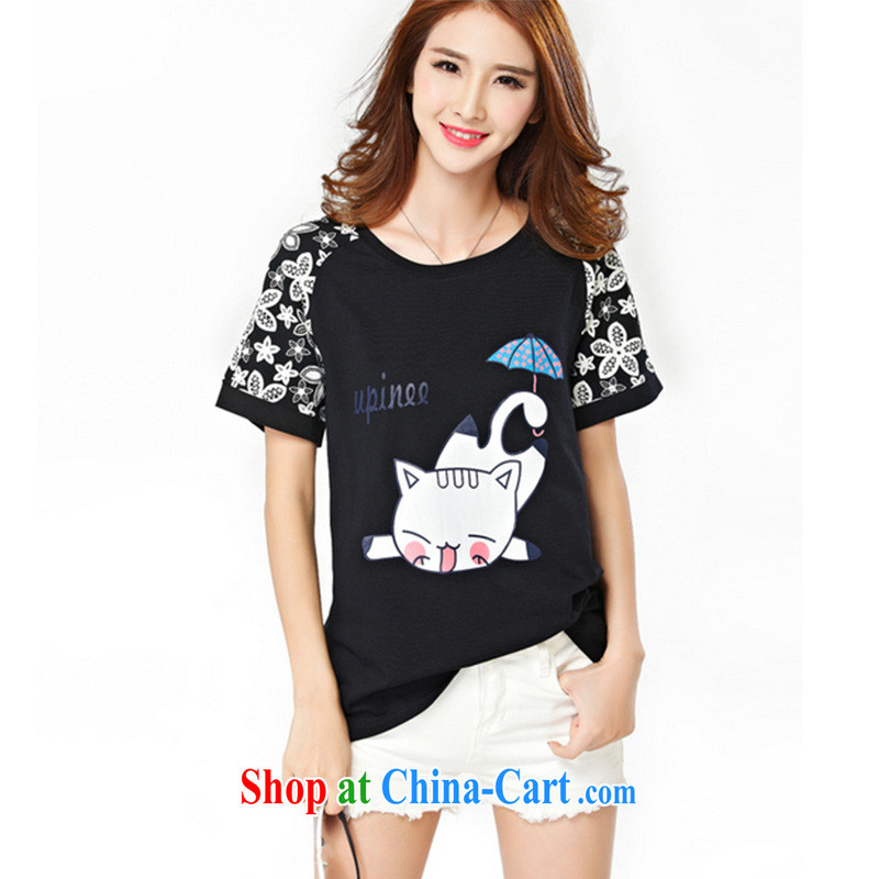Leong Che-hung Tai SPRING SHOULD BE 2015 summer load the Code women mm thick and fat XL T shirt short-sleeved video thin thick sister white 4XL, Hung Tai spring (hongtaichuntian), online shopping
