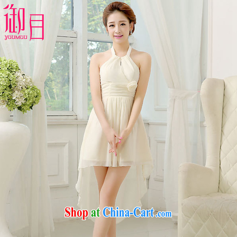 Imperial Palace, serving toast bridesmaid dress 2015 new uniforms tail short, small dress sister dress champagne color XL (120 - 135 ) jack