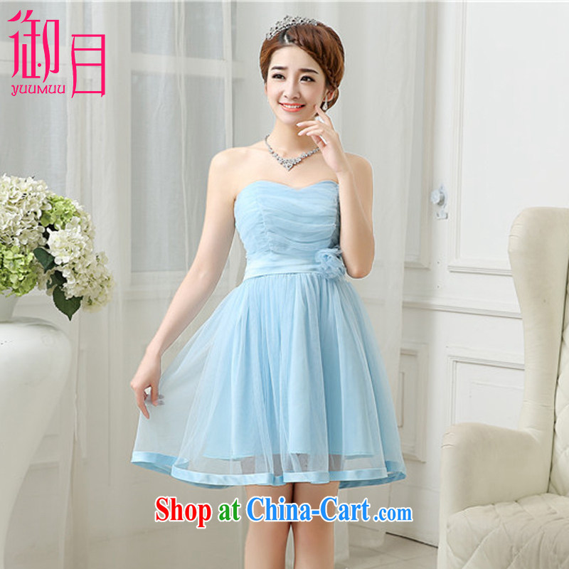 Imperial Palace, bridesmaid dresses summer 2015 new short bridesmaid dress Evening Dress bride wedding toast stage service sister serving Korean bows serving blue are code (85 - 100 jack)