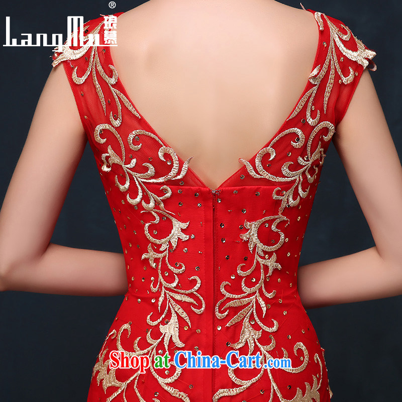 In Luang Prabang in 2015 of new summer dress red Fung Mo 9 days embroidery marriages served toast crowsfoot evening dress red XL, Luang Prabang, and shopping on the Internet