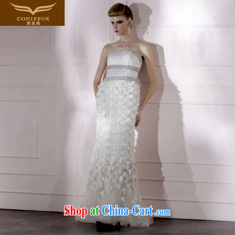 Creative Fox Tuxedo white erase chest long wedding dresses banquet night pack and dress dress sexy at Merlion dress beauty graphics thin 80,685 white XXXL