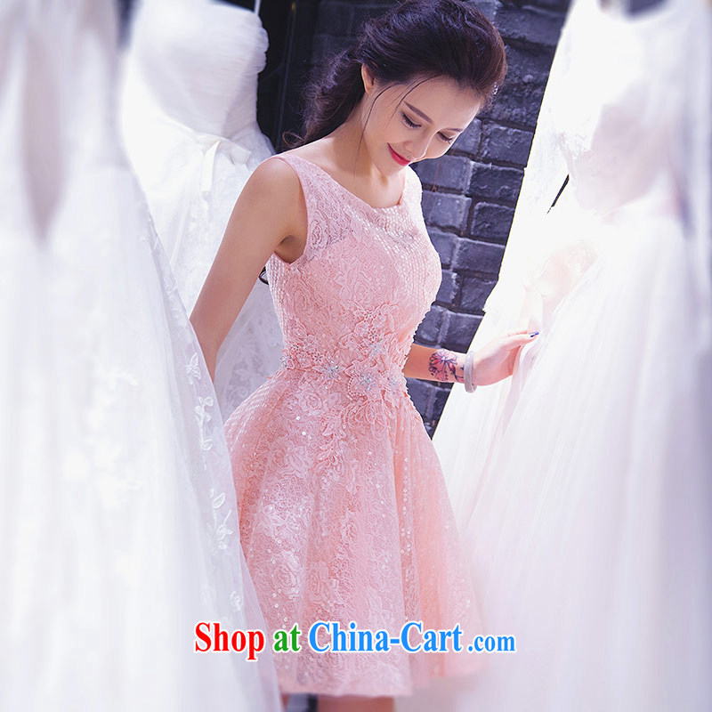 Love Life 2015 summer new pink one shoulder stylish 100 hem dresses short wedding dress bridesmaid banquet dress pink XXL, love life, and shopping on the Internet