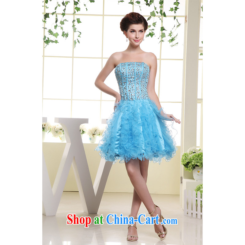 The beautiful yarn new luxury with drill bare chest cultivating small short skirts and Stylish European and American, zip bride 2015 new bridesmaid dress factory outlets.