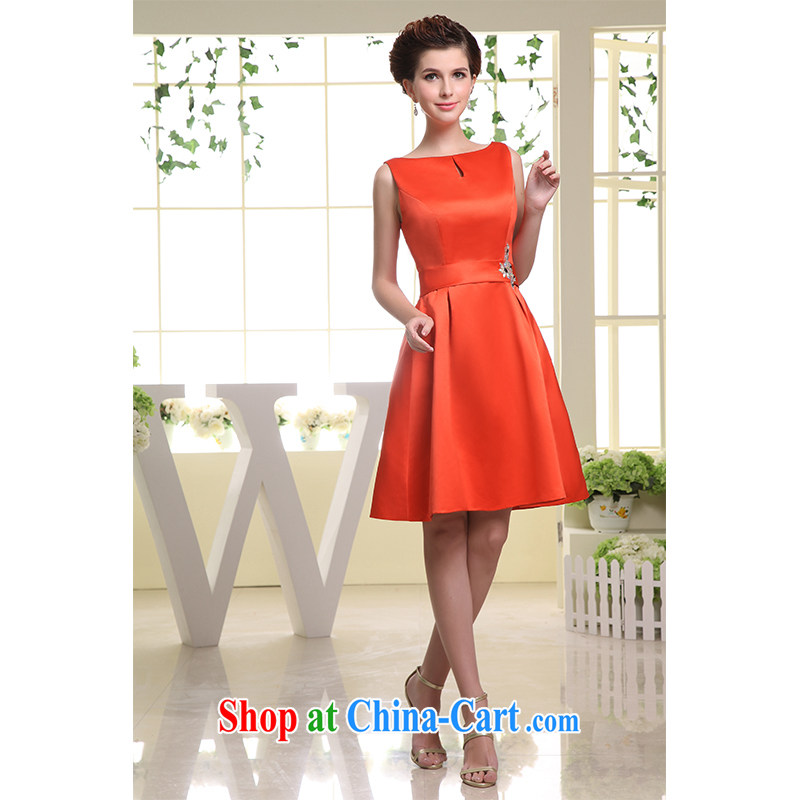 The beautiful yarn 2015 new dual-shoulder short skirts only the US side for simple zipper bridesmaid bridal Princess skirt factory direct custom