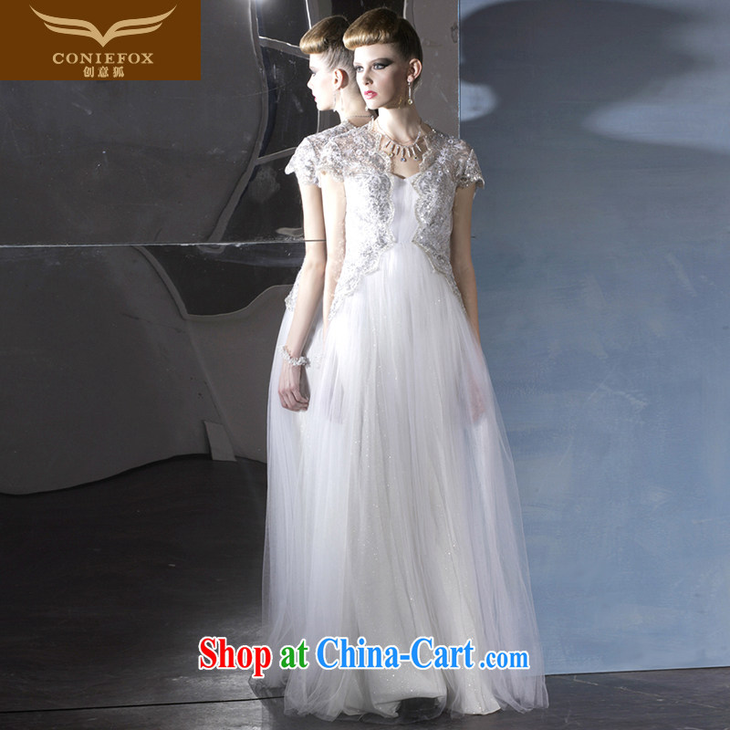 Creative Fox Tuxedo package shoulder cultivating white wedding dresses theatrical Service Bridal wedding dress banquet evening dress dress 81,000 white XXL