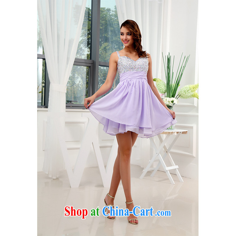 The beautiful yarn luxury with drill snow woven small short skirts stylish and simple bridal toast only bridesmaid gathering short skirts 2015 new listing. Package Mail