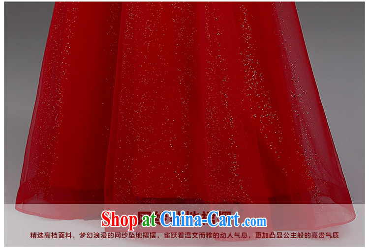 Beautiful trim dress 2015 new shoulders V collar red long dress Korean Beauty graphics thin marriage toast serving Red. Contact Customer Service pictures, price, brand platters! Elections are good character, the national distribution, so why buy now enjoy more preferential! Health
