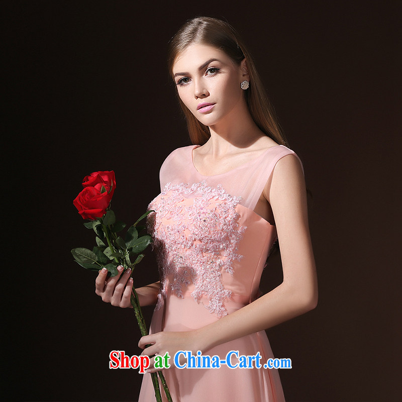 According to Lin Windsor wedding dresses Korean field shoulder marriages toasting banquet long evening dress with 2015 new pink tailored advisory service