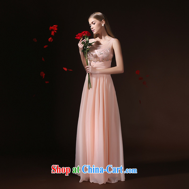 According to Lin Sa 2015 new dress long, Mr Ronald ARCULLI, pink bridal toast wedding service long skirt Evening Dress banquet dress pink tailored advisory service