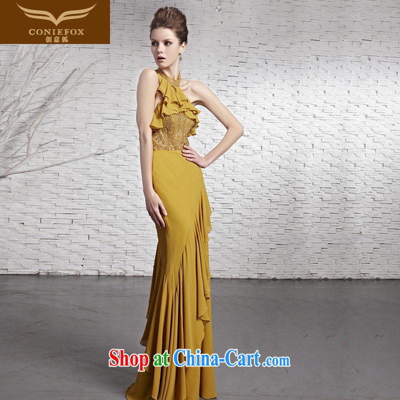 Creative Fox Evening Dress 2015 New Section is also elegant evening dress long gown beauty banquet toast service annual meeting presided over 81,618 dresses picture color XXL
