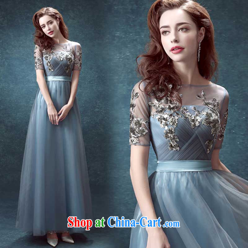 Pure bamboo love yarn blue back exposed long marriages served toast Annual Dinner Show wedding dresses 2015 new gray tailored contact Customer Service