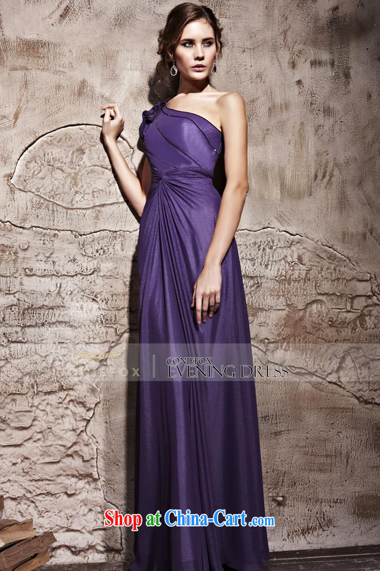 Creative Fox Evening Dress new purple single shoulder sexy dress long dress elegant long graphics thin banquet dress the annual concert dress clothes 81,222 purple S pictures, price, brand platters! Elections are good character, the national distribution, so why buy now enjoy more preferential! Health