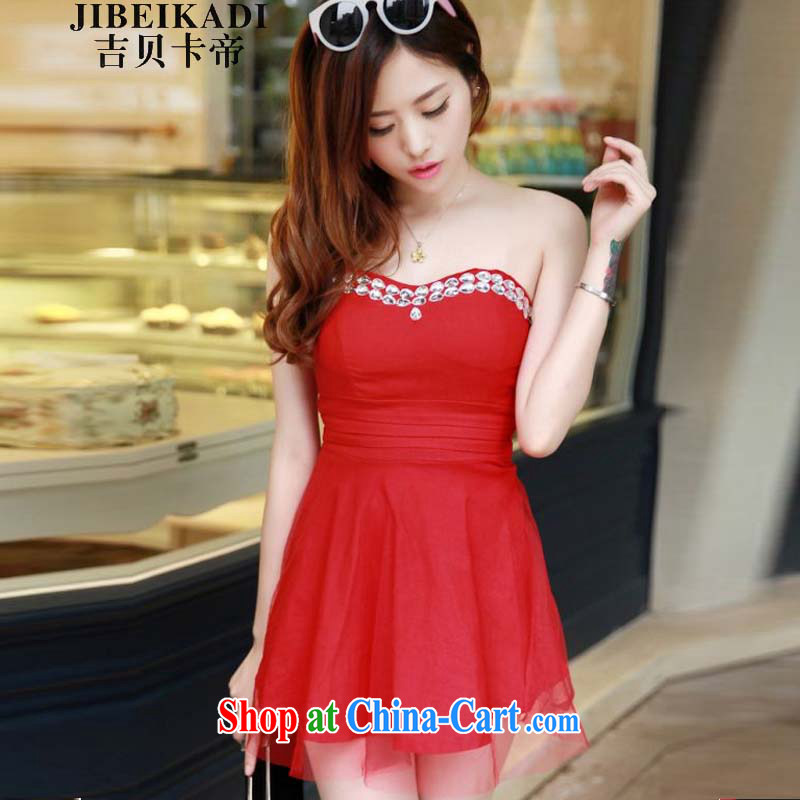 The Bekaa in Dili sexy bare chest wrapped chest Princess shaggy Web yarn small dress dresses9960 #red are code