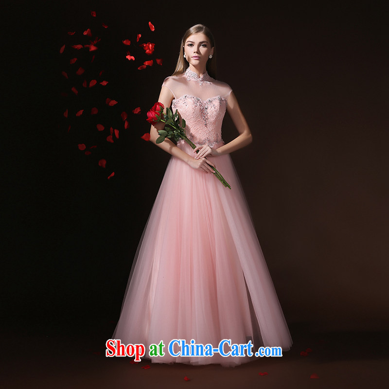 According to Lin graduated from Elizabeth the wedding dress woman married 2015 long evening dress summer bride toast wedding service long skirt bridesmaid clothing pink tailored advisory service