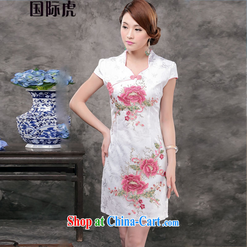 Mr Ronald ARCULLI is new, retro-day cheongsam dress stylish improved cheongsam dress beauty short dress suit M