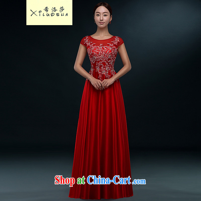 The Greek, Mona Lisa (XILUOSHA) bridal dresses 2015 new toast clothing stylish evening dress long summer the wedding dress girl wedding dress shoulders red XL