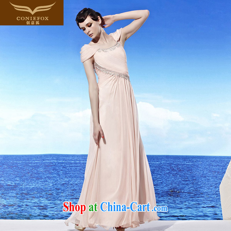 Creative Fox Evening Dress 2015 new pink elegant long bridesmaid dress banquet toast. Video slim skirt annual dress 56,912 pink XXL