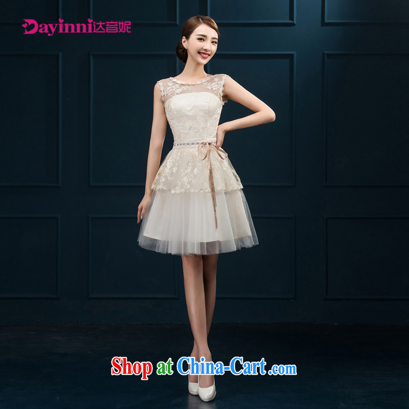 bridesmaid clothing summer bridal toast serving New 2015 wedding dress marriage short-field shoulder evening dress girl spring white M