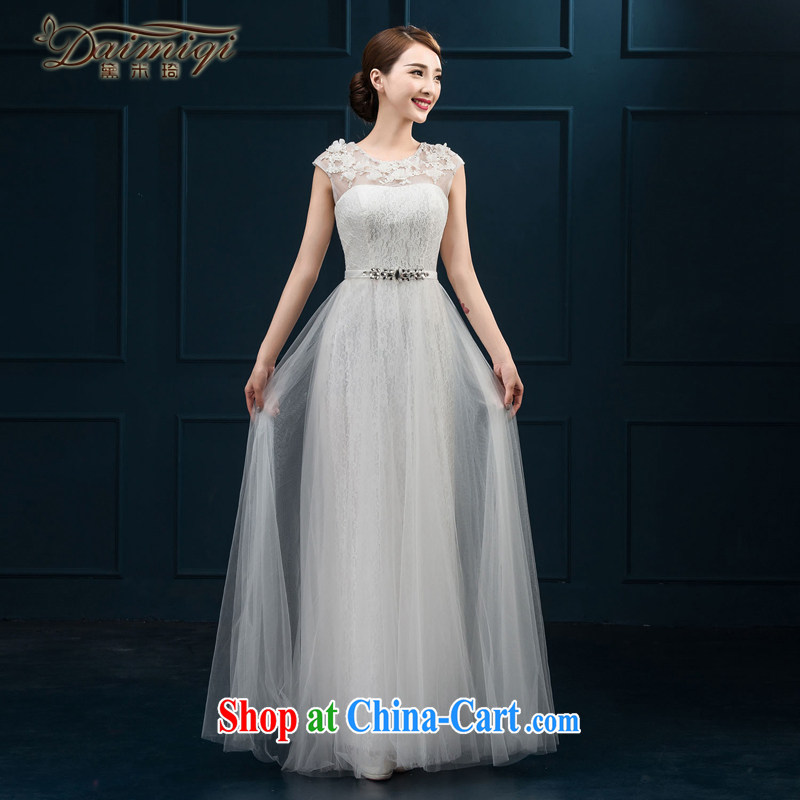 banquet dress 2015 new bride toast summer clothing moderator dress field shoulder Evening Dress dress long female white XXL