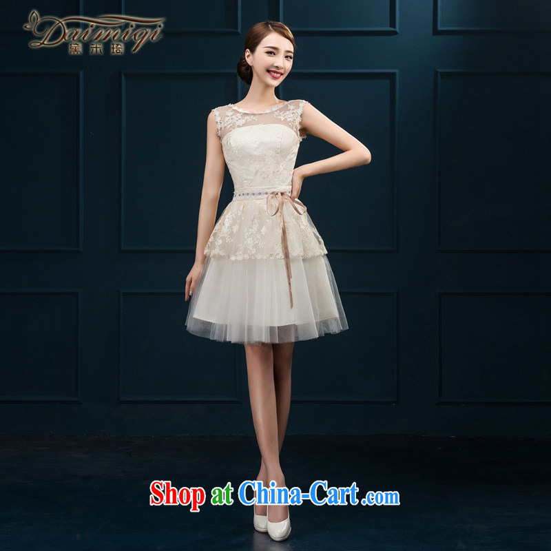 bridesmaid clothing summer bridal toast serving New 2015 wedding dress marriage short-field shoulder evening dress girl spring white XXL