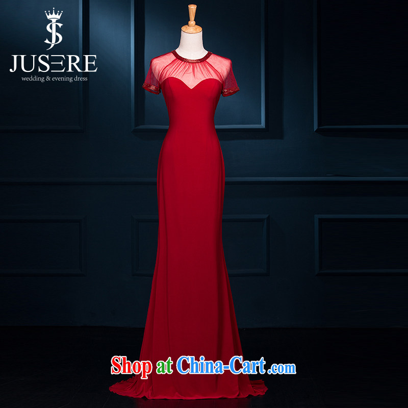 It is not the JUSERE high-end wedding dresses 2015 spring and summer New Red stylish Korean bridal wedding banquet toast long evening dress dress China Red high-end custom contact Customer Service