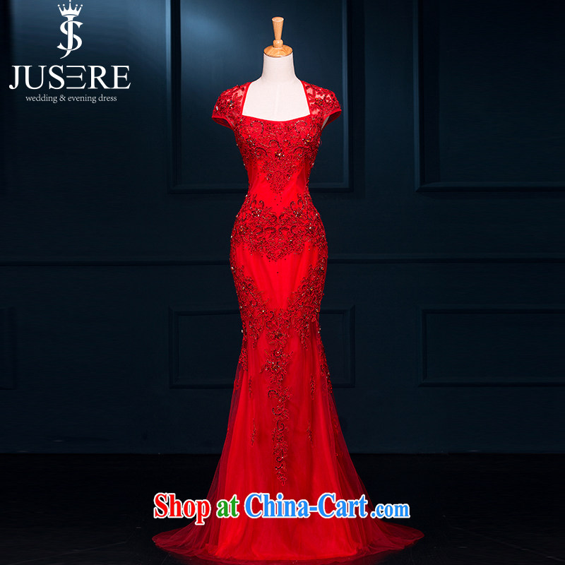 It is not the JUSERE wedding dresses bridesmaid dresses long cultivating party collar lace bridal back-door dress uniform toast moderator banquet evening dress China Wind China Red high-end custom contact Customer Service