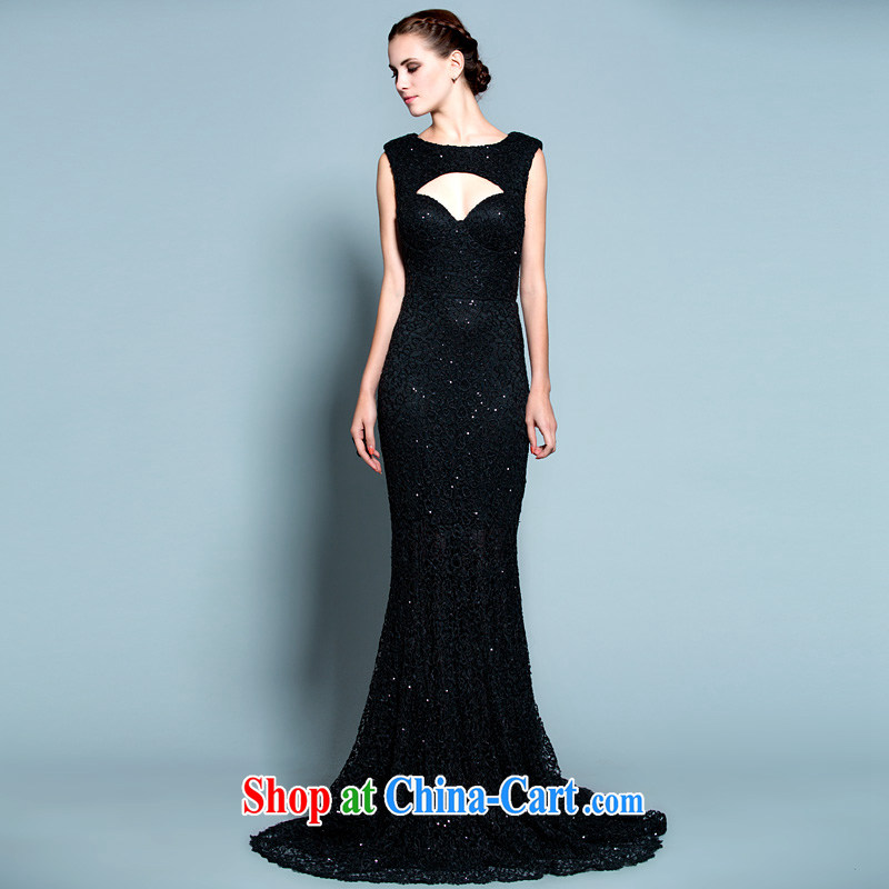 A yarn 2015 new original language empty beauty, small tail dress 20250329 black L code in stock 165 /88 A
