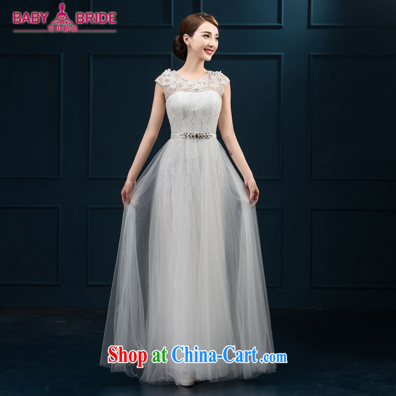 banquet dress 2015 new bride toast summer clothing moderator dress field shoulder Evening Dress dress long female white XL