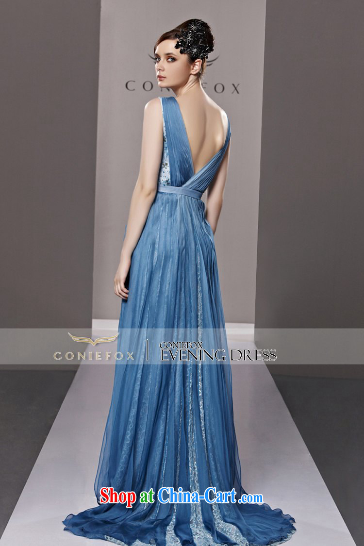 Creative Fox dress banquet blue long-tail dress wedding dresses new ...