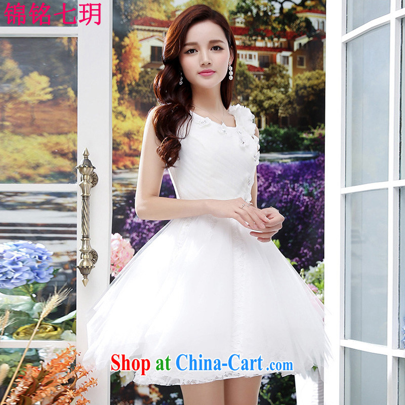Kam Ming Yin Yue 7 summer 2015 new only the US wedding dresses serving toast dress banquet service, short white S
