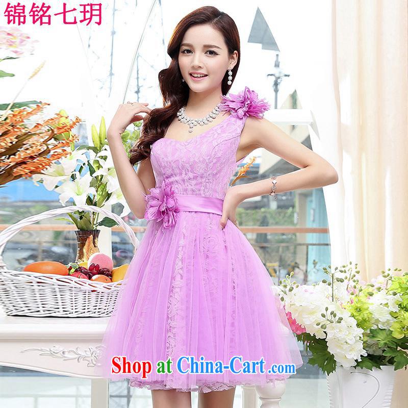 Kam Ming Yin Yue 7 summer 2015 new only the US wedding dresses serving toast dress banquet service, short, light purple M