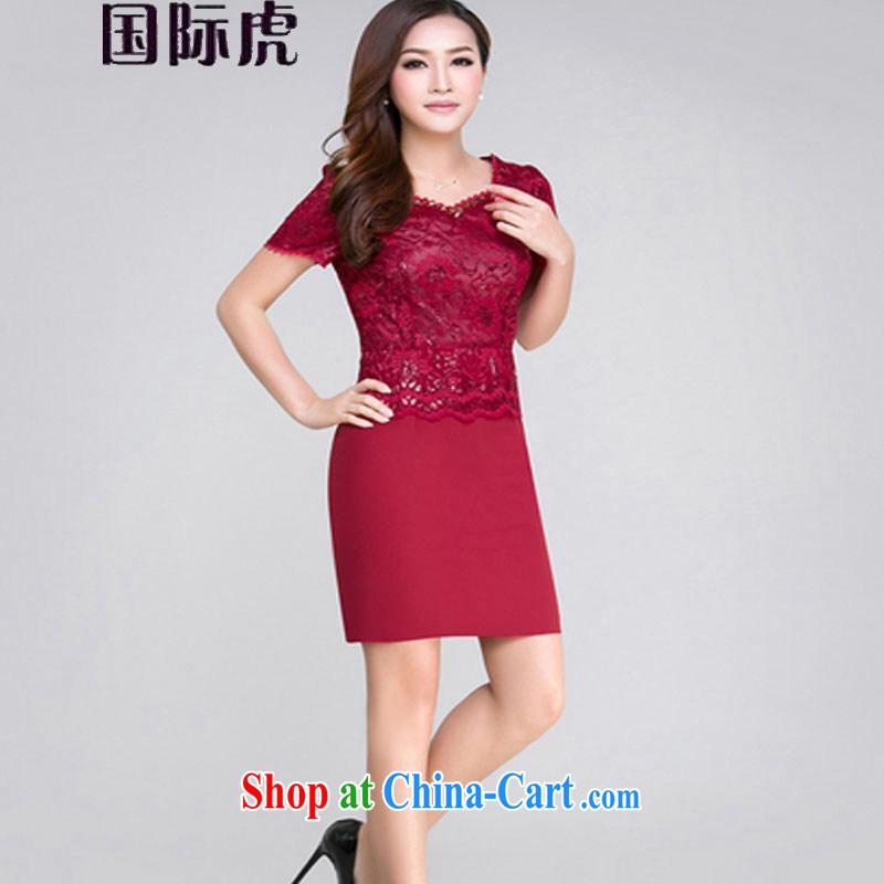 The Code dress upscale silk aura cultivating festive wedding dress cheongsam dress Map Color M