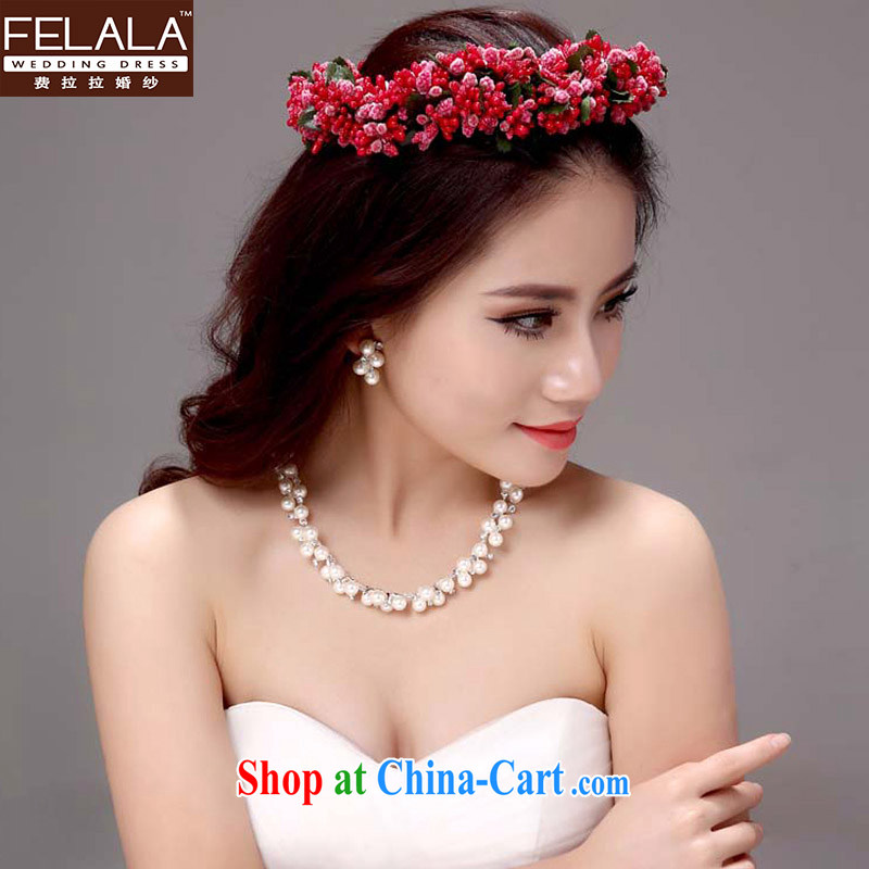Ferrara Korean-style necklace earrings crown and trim rings bracelets 2015 bridal jewelry set of 5 wedding jewelry wedding wedding accessories and ornaments