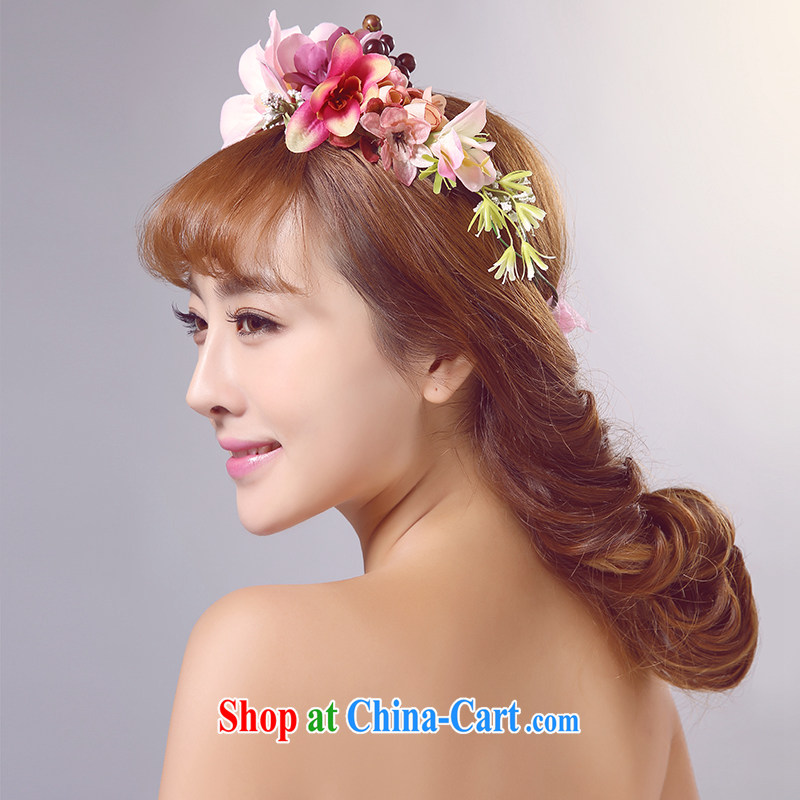Ferrara Korean-style wreath bridal bridesmaid children flower photography and seaside resort photo photography props