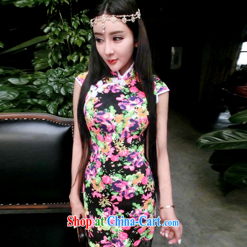 The warm 2015 cheongsam dress also heart homes black s