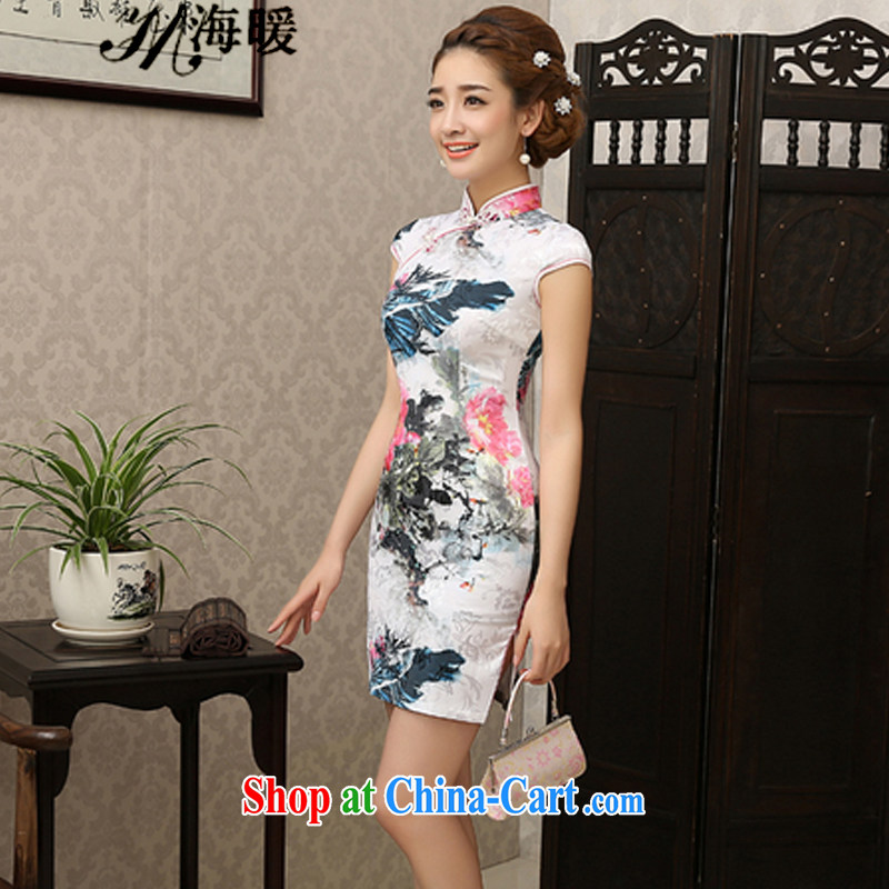 The warm 2015 cheongsam dress also heart homes white XXL