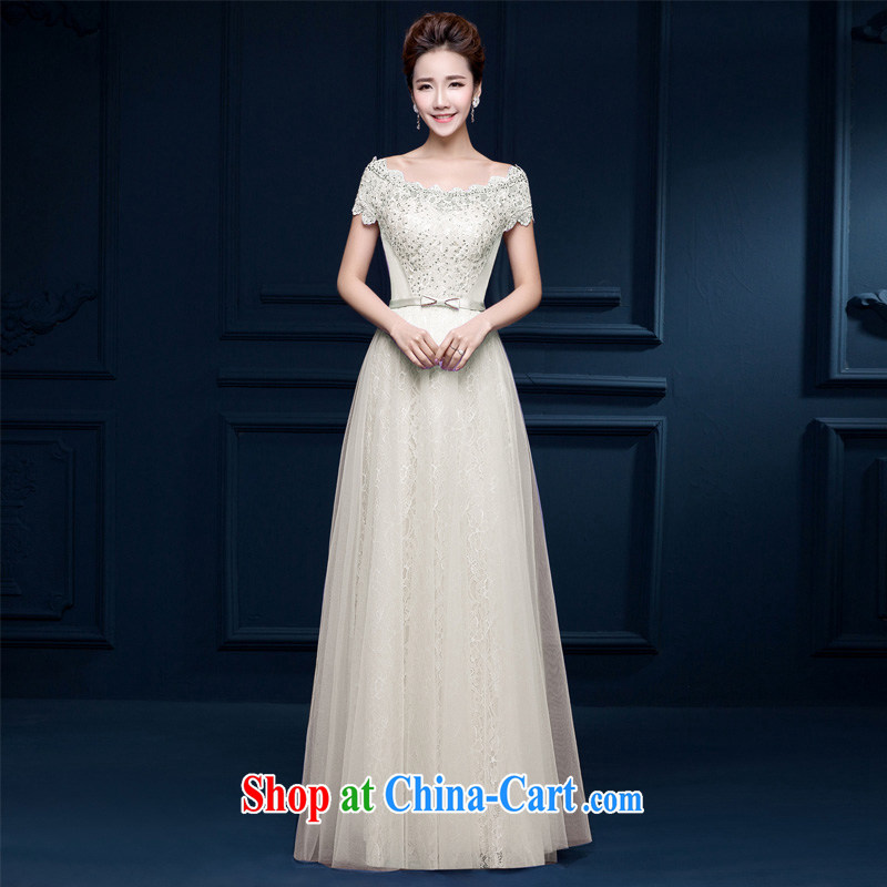 2015 bridal upscale Custom Field shoulder bare chest straps spring wedding dresses red stylish banquet photography long dress champagne color XXL