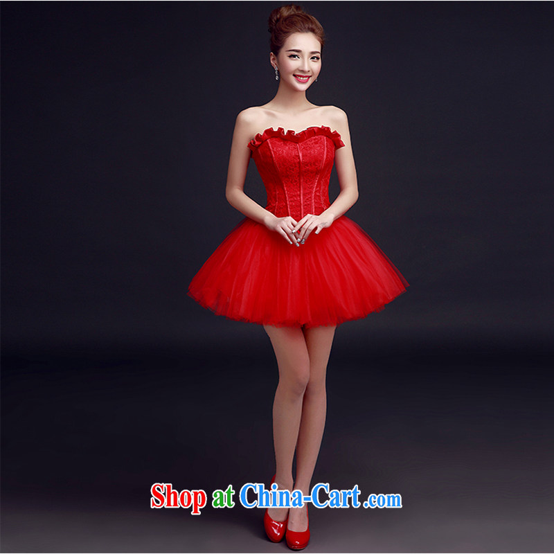 Evening Dress 2015 Spring Banquet small dress short bridal the wedding toast clothing dress dresses summer female Red tailored contact Customer Service