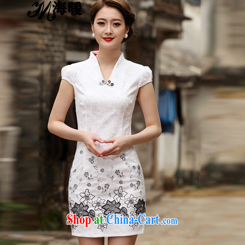The warm 2015 cheongsam dress also heart homes white XL