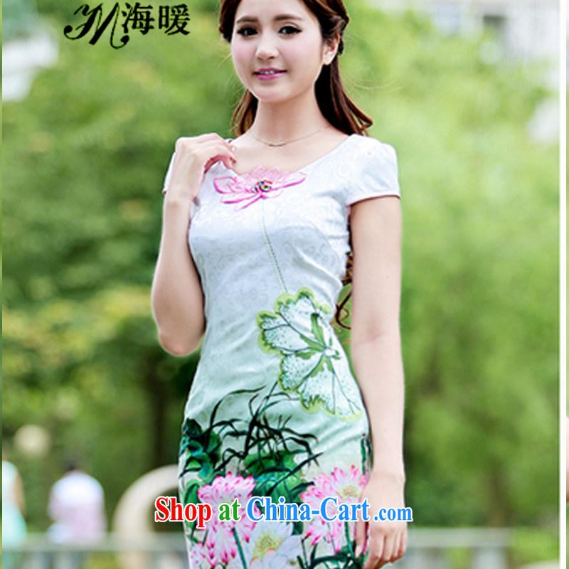 The warm 2015 cheongsam dress also heart homes pink XL