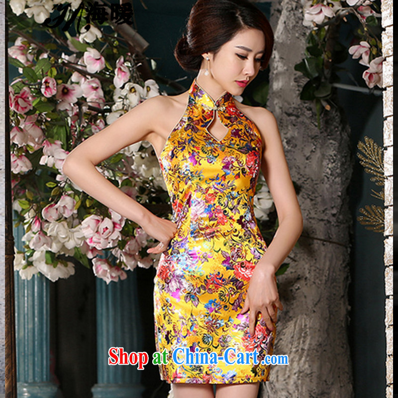 The warm 2015 cheongsam dress also heart homes gold XL