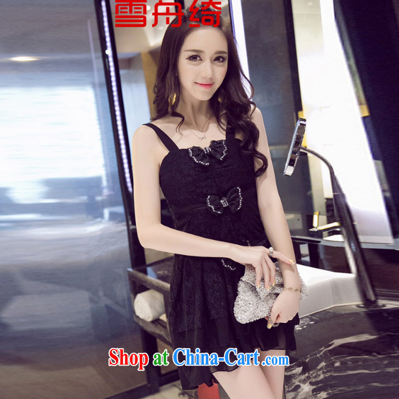 Snow Storm, summer 2015 new palace wind bow tie lace dresses dress skirt A 5213 black are code