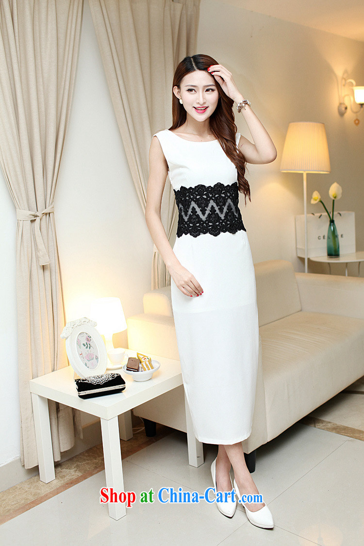 Yu, 2015 summer sense of beauty dresses back exposed the forklift truck package and long skirt Evening Dress 4051 white L pictures, price, brand platters! Elections are good character, the national distribution, so why buy now enjoy more preferential! Health