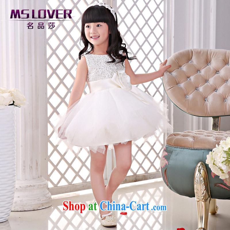 2015 MSLover new flower dress children dance stage dress wedding dress TZ 1505043 ivory 14 code