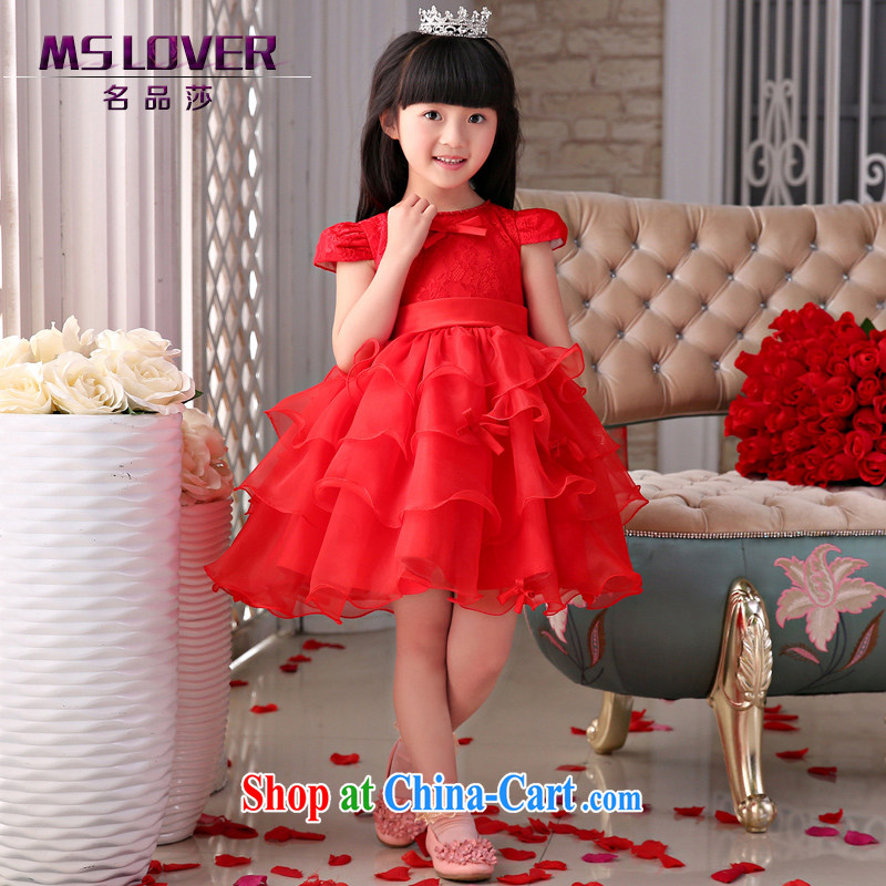 2015 MSLover new flower dress children dance stage dress wedding dress TZ 1505034 red 14 code