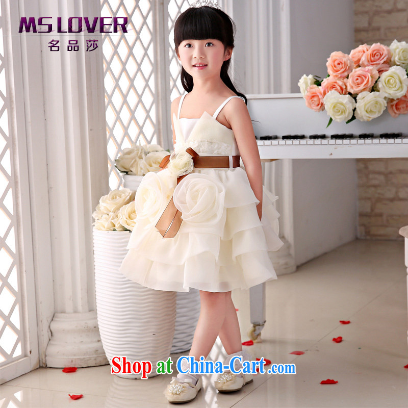 2015 MSLover new flower dress children dance stage dress wedding dress TZ 1505062 champagne color code 14