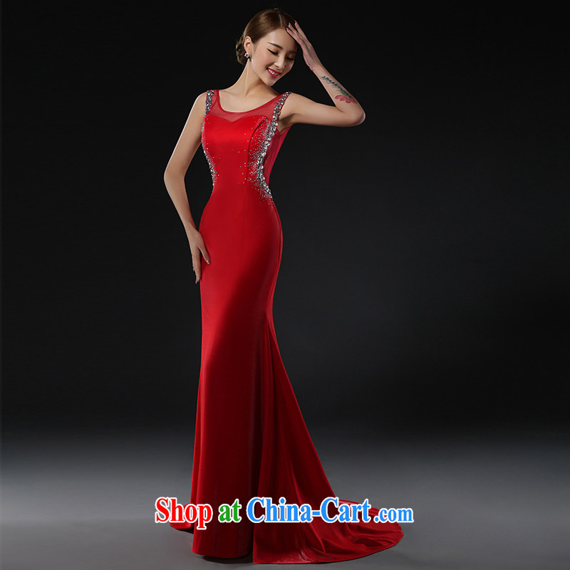 The Greek Cypriot, Mona Lisa (XILUOSHA) Evening Dress long-tail marriages served toast beauty graphics thin crowsfoot performance service moderator dress girls of red XXL, the Greek Cypriot, Mona Lisa (XILUOSHA), shopping on the Internet